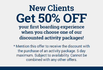 Boarding discount for new clients